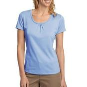 ® Ladies Silk Touch™ Interlock Scoop Neck Shirt