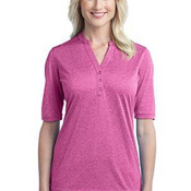 Ladies Performance Cross Dye Henley