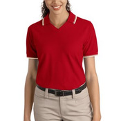 Ladies Cool Mesh™ Polo with Tipping Stripe Trim